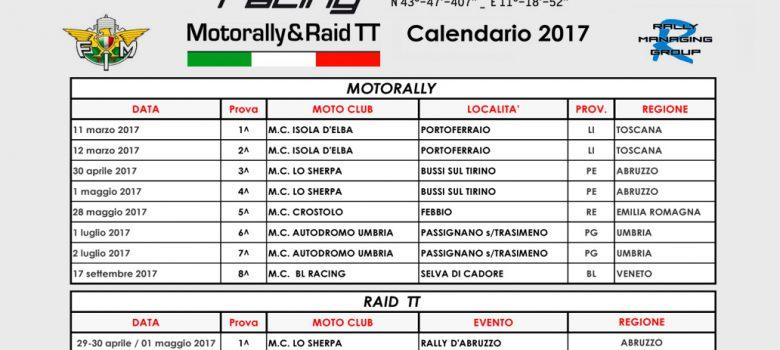 Calendario MotorallyraidTT 2017
